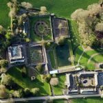 Aerial view of Aberglasney Gardens