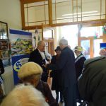 The High Sheriff is greeted by President Brian Lodwick