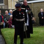 The Lord Lieutenant after unveiling the plaque and laying the wreath