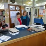 Librarian Frances and Assistant Librarian Sandra