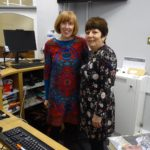 Librarian Frances Cuss and assistant Librarian Sandra Passmore