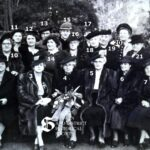 Photograph 11:  An unknown group of women, possibly a committee in World War II taken in the grounds of Brynderwen House.