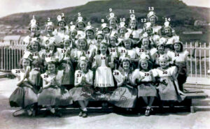 102: Coedffranc Girls' School 1951.  We have been supplied with all the names apart from 16 and 17 - do you know who they are?