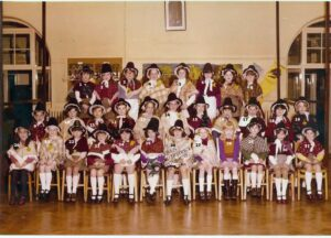 113:  Coedffranc Girls' School St David's Day c. 1975 donated by Lisa Williams