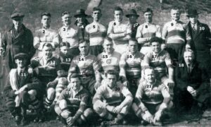 141: NOR (BP) Rugby team from the 1920's.  We have no names for this photograph.