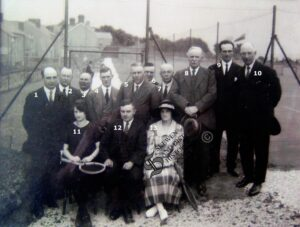 132: Opening of the tennis courts at Skewen Park, 1926.  So far we can only name Tom Lloyd, number 3.  Who are the others?