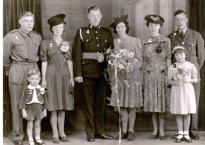 133:  The Wedding of  Leonard Llewellyn Evans.  We have now been supplied with the names for numbers 1 - 4, can you help with numbers 5 - 8 please?