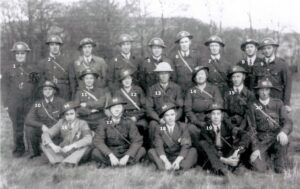 111: World War 2 ARP wardens at Bryn Awel.  We only have a name for number 10, Jack Badham, can you name anyone else?
